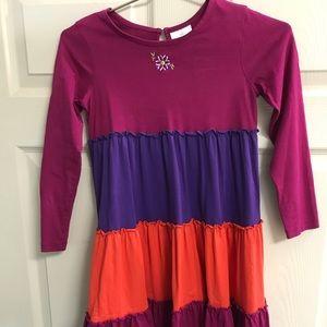 Hanna Andersson Ruffle Dress -Size 130/ Size 8 US